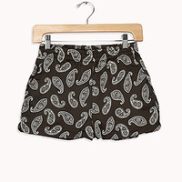 Paisley Satin Shorts