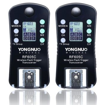 Yongnuo RF605N RF-605N RF-605=RF-602+RF603II LCD wireless flash trigger for Nikon D610 D600 D800E D800 D700 D300s D300 D200 D80