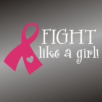 Breast Cancer Awareness Fight Like A Girl Ribbon by gotdecalz