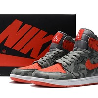 Best Deal Online Nike Air Jordan Retro 1 High Premium Camo River Rock/Black Men Sneakers AA3993-032