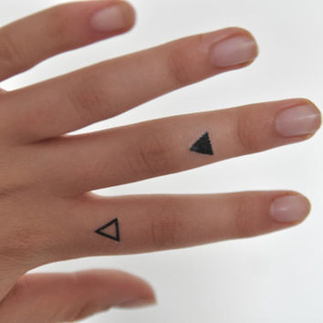 Triangles Temporary Tattoo, Hipster Temporary Tattoo, Tattoo Temporary, Gift Idea, Birthday Present, Black, Minimalist Art, Modern Art