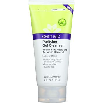 Derma E Gel Cleanser - Purifying - 6 Oz