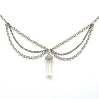 Crystal Triple Chain Choker