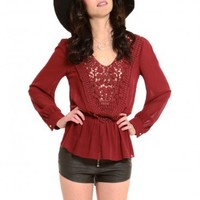 Johana Crochet Blouse - Clothes | GYPSY WARRIOR