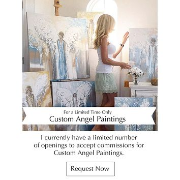 CUSTOM ORIGINAL ANGEL PAINTING Abstract Angels Commissioned Spiritual Fine Art Home Decor