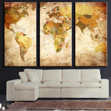 Vintage World Classic Map : SAVE $14 TODAY
