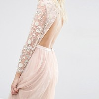 Needle & Thread Butterfly Gown Tulle Maxi Dress