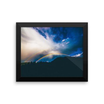 Rainbow Sky Framed photo paper poster