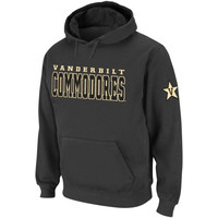 Vanderbilt Commodores Knockout Pullover Hoodie - Charcoal