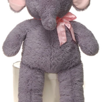 "32"" cuddle elephant with pink ribbon Case of 9"