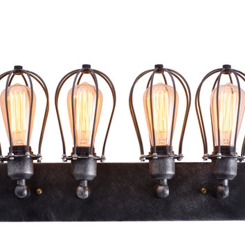 Industrial Cage Wall Lamp Retro Iron Wall Sconces Rustic Bathroom- hallway wall light- living room wall sconce- rustic wall light