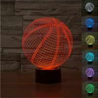 Basketball 3D LED Night Light