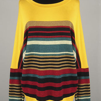 Mustard Tunic with Stripes