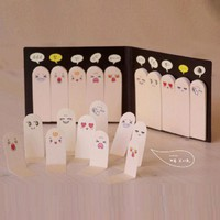 DCCKL72 Cute Creative Finger Memo Pad Sticky Notes Kawaii Paper Sticker Papeleria Stationery Office School Supplies ON008