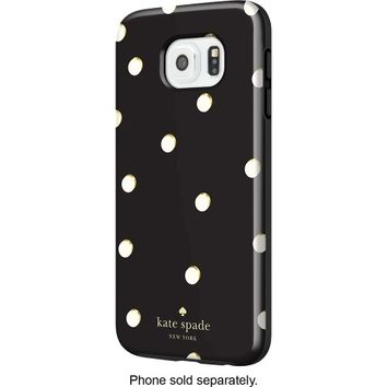 kate spade new york - Hybrid Hard Shell Case for Samsung Galaxy S6 Cell Phones - Scatter Pavilion Black/Cream