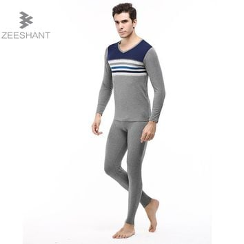 ZEESHANT 2017 Men Thermal Underwear Sets Winter Hot Dry Technology Elastic Men Thermo Underwears Suits Warm Long Johns XXXL