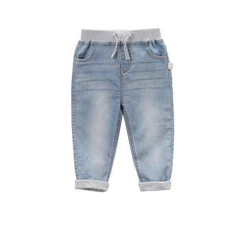 Brand 2017 Spring child kid baby boy jeans light blue casual jeans toddler boy denim pants cuffs children jeans child clothing
