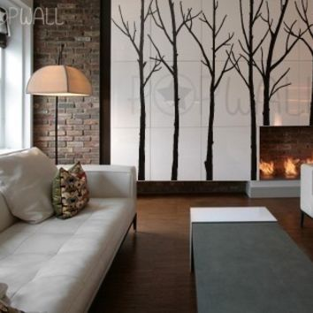 Wall Decal   Winter Tree Wall Decal   Living Room Wall Decals Wall Sticker    Wall