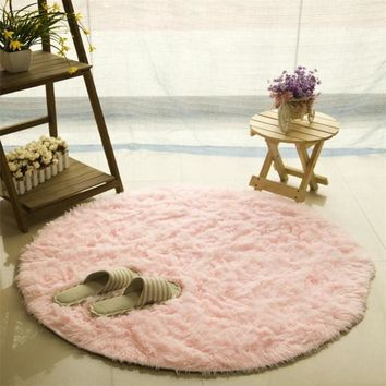New Soft Bath Bedroom Bathroom Floor Shower Round Mat Rug Non-slip Non-toxic Resistant Safe durable mats hot sale C0307