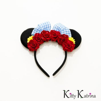 Dorothy Mouse Ears Headband, Dorothy Costume, Dorothy Dress, Dorothy Wizard of Oz, Disney Bound, Disney Ears, Disney Headband, Disney Crown