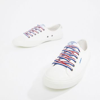 Superdry Low Pro White Trainer at asos.com
