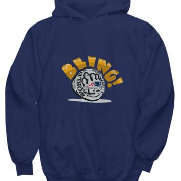 Bling! Football Champ Gold Ring Boston Hoodie Sweater