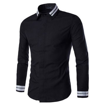 Designer Men's Slim Fit Dress Shirt