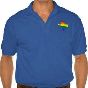 LGBT Texas, US state flag map Polo Shirt from Zazzle.com