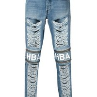 Hood By Air Distressed Zip Detail Slim Jeans - Hirshleifers - Farfetch.com