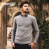 New Autumn Winter Causal Fashion Sweater Men Knitwear Clothing pullovers O-neck Gray Blue