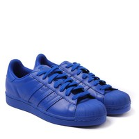 Adidas Originals x Pharrell Williams Supercolor Bold Blue Superstar Trainers