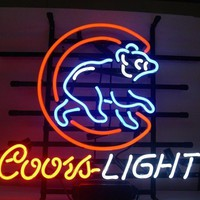 Coors Light Chicago Bears Neon Sign NFL Teams Neon Light