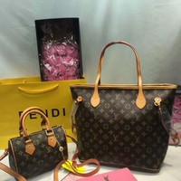 DCCKNT Year-End Promotion 3 Pcs Of Bags Combination (LV Bag ,LV Mid Bag ,YSL Wallet) Colorful