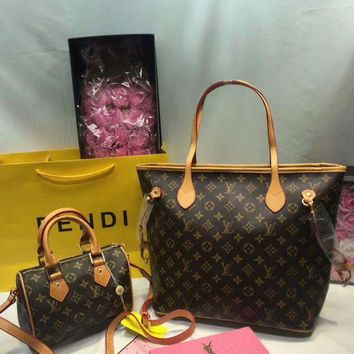 DCCK Year-End Promotion 3 Pcs Of Bags Combination (LV Bag ,LV Mid Bag ,YSL Wallet) Colorful