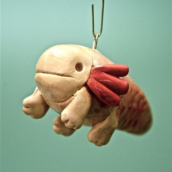 Axolotl Fish Christmas Ornament