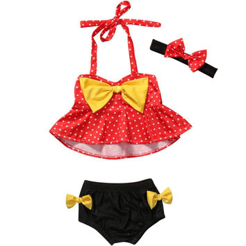 Baby Toddler Kids Girls Bikini Swimwear Bathing Suit Swimsuit Swimming Beachwear