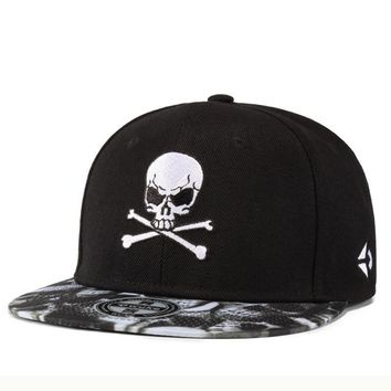 Trendy Winter Jacket High Quality Brand Men's Hip Hop Hat Casual Street Skate Baseball Cap Personality Skull Embroidery Snapback Hat For Boys Girls AT_92_12