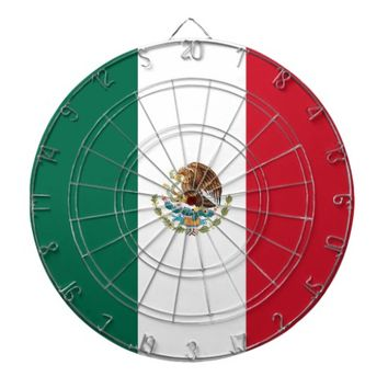 Dartboard with Flag of Mexico
