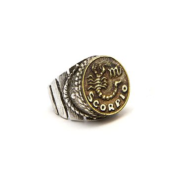 Scorpio Sign Astrology Zodiac Scorpion Ring