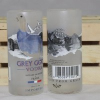 Shot Glass Upcycled from Mini Grey Goose Liquor Bottles, Recycled Liquor Bottle, Unique Shot Glass, Man Cave, Bar Ware