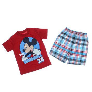 Disney Mickey Mouse Cotton 2PC Short Outfit