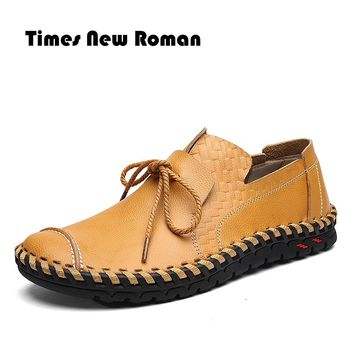 Men Leather Shoes Casual Fashion Shoes For Men Designer Genuine Shoes Casual Breathable Men Shoes