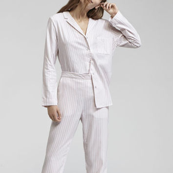 Striped pink pajama set - Pyjama Set - PYJAMAS | Oysho United Kingdom