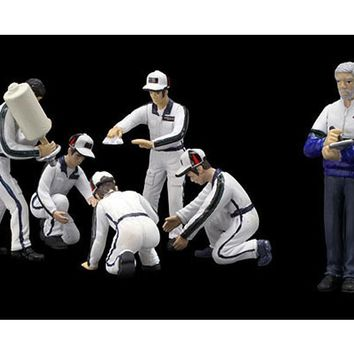 Pit Crew Figurines Martini Racing Set of 6 for 1/43 Scale Models by True Scale Miniatures