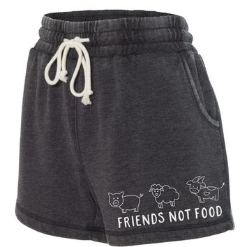 Boxercraft Washed Rally Shorts - Friends Not Food