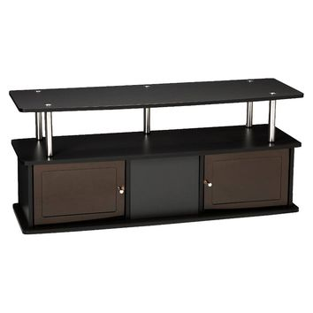 "TV Stand with 3 Cabinets Black 47"" - Convenience Concepts : Target"