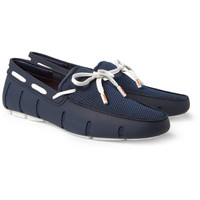 SWIMSRubber and Mesh Boat Shoes MR PORTER