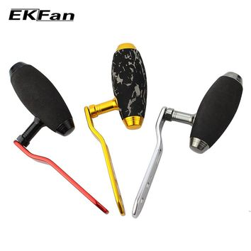 EKFan High Quality  EVA Knob + Metal Handle For Baitcasting Fishing Reel T-shaped Double Holes Fishing Handle