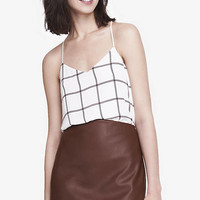 Double Windowpane Plaid Barcelona Cami from EXPRESS