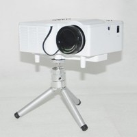"RioRand 60"" Portable Mini LED Projector Cinema Theater, Support PC Laptop VGA Input and SD + USB + AV Input (White)"